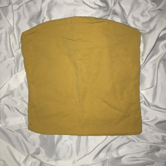 0bc34d378f4 Brandy Melville Yellow Jenny Tube Top
